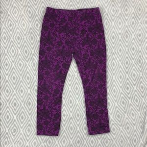 Kids Korner purple floral leggings 2T